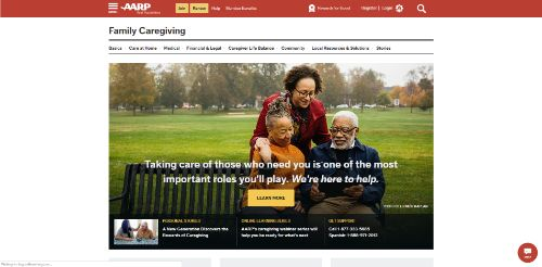 AARP - Family Caregiving Online Resource-min