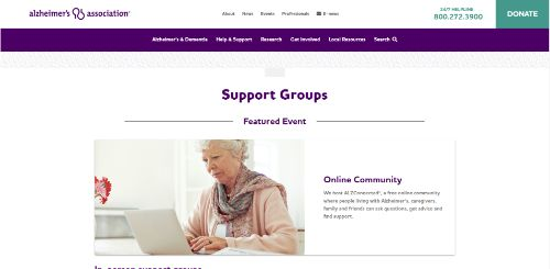 Alzheimers Association - Caregiver Support Group-min
