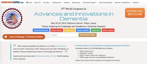 13th World Congress on Advances and Innovations in Dementia