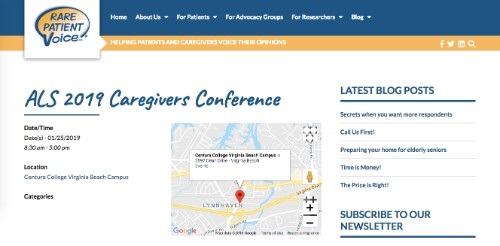ALS 2019 Caregivers Conference
