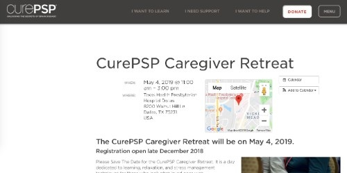 CurePSP Caregiver Retreat