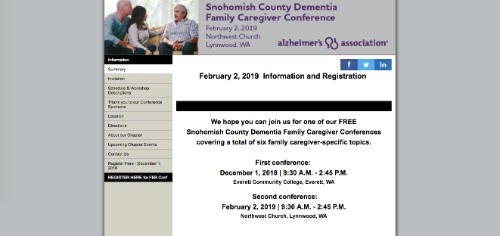 Snohomish County Dementia Family Caregiver Conference