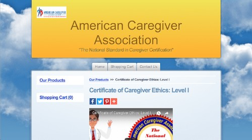 American Caregiver Association-Certificate of Caregiver Ethics-Level I-min