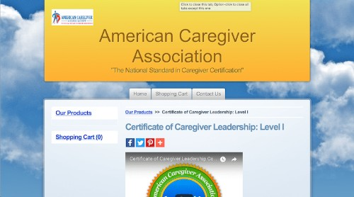 American Caregiver Association-Certificate of Caregiver Leadership-Level l-min