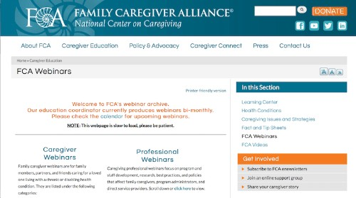 Family Caregiver Alliance-Caregiving Webinars-min