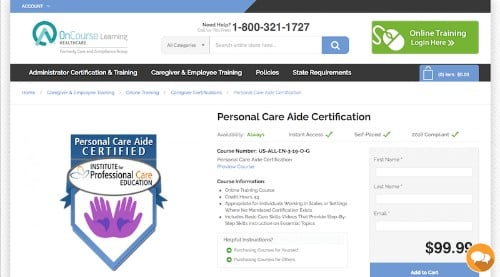 Institute for Professional Care Education-Personal Care Aide Certification-min