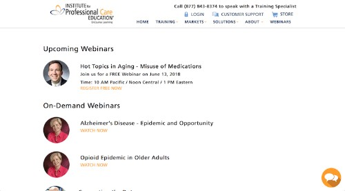 Institute for Professional Care-Webinars-min