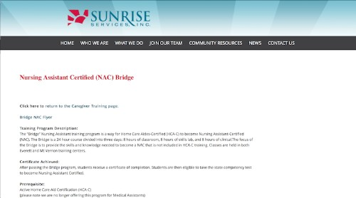 Sunrise Services-Nursing Assistant Certified NAC Bridge-min
