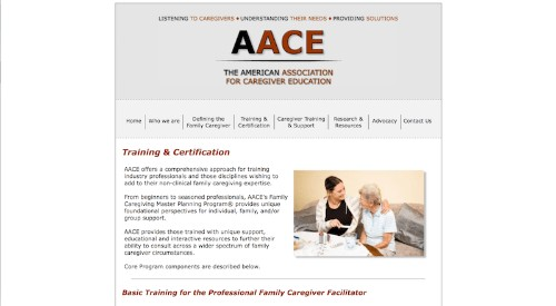 The American Association for Caregiver Education-Family Caregiving Master Planning for the Professional-min