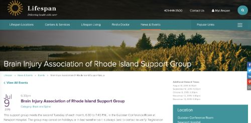 Brain Injury Association of Rhode Island Support Group