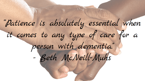Patience is absolutely essential - Beth McNeill-Muhs