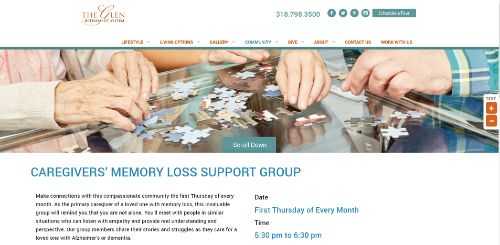 The Glen Retirement System - Memory Loss Support Group-min