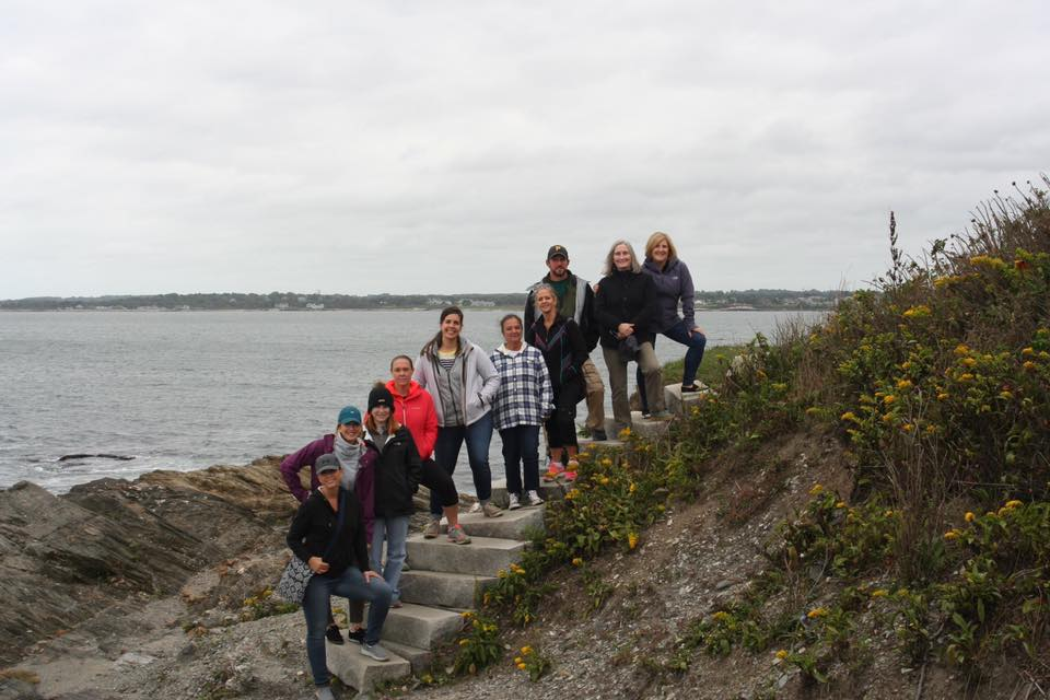 Seniorlink employees on a walk together in Rhode Island